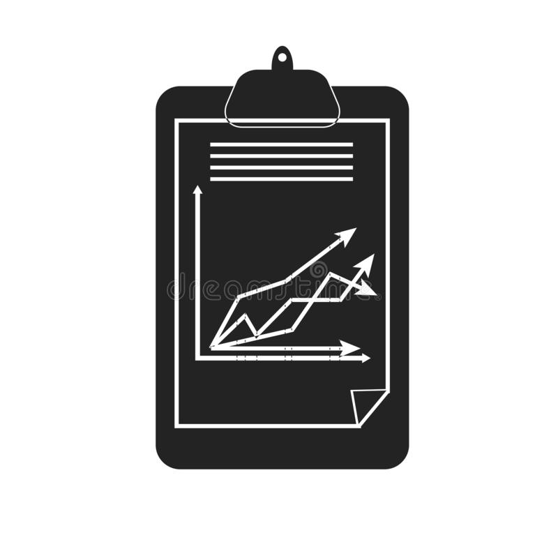 Signe et symbole de vecteur d'icône de presse-papiers d'isolement sur le fond blanc, concept de logo de presse-papiers illustration stock