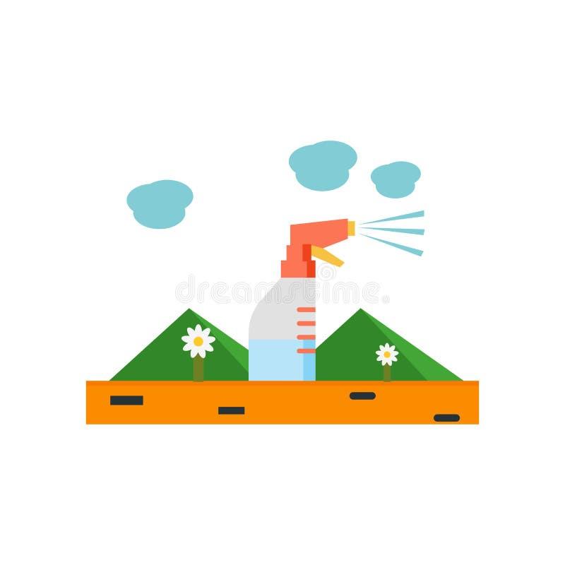 Signe et symbole de vecteur d'icône de pulvérisateur d'isolement sur le fond blanc, concept de logo de pulvérisateur illustration stock