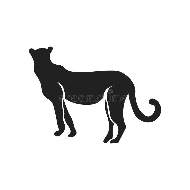 Signe et symbole de vecteur d'icône de puma d'isolement sur le fond blanc, concept de logo de puma illustration libre de droits