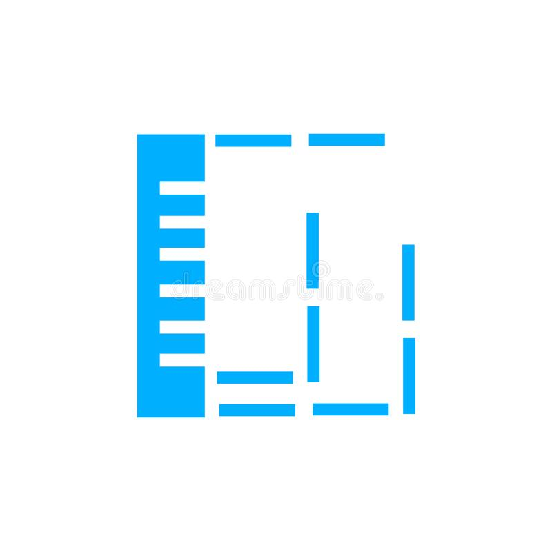 Signe et symbole de vecteur d'icône de règle d'isolement sur le fond blanc, concept de logo de règle illustration de vecteur