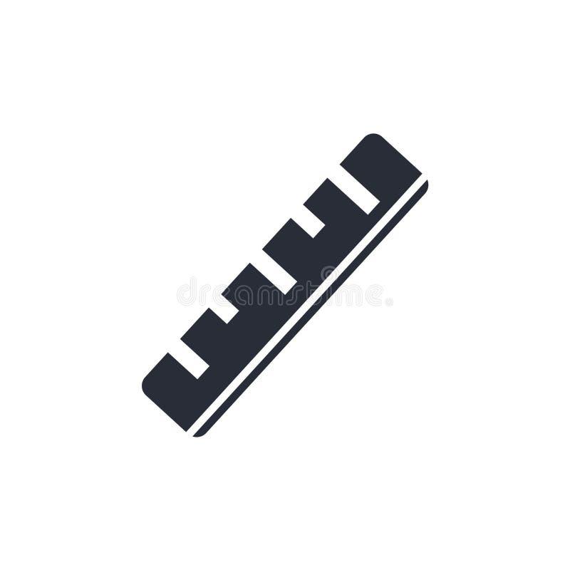 Signe et symbole de vecteur d'icône de règle d'isolement sur le fond blanc, concept de logo de règle illustration stock