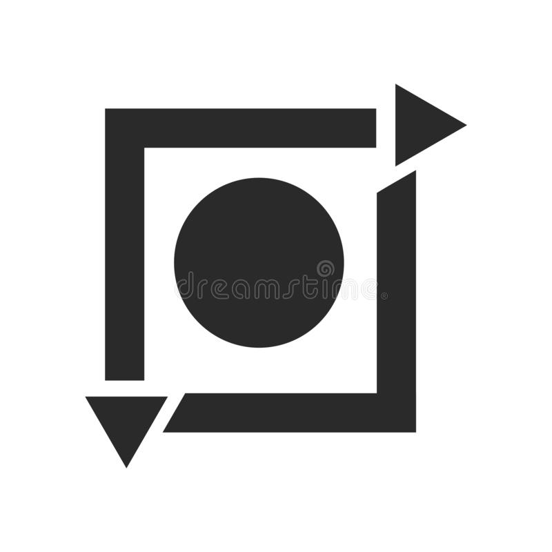 Signe et symbole de vecteur d'icône de répétition d'isolement sur le fond blanc, concept de logo de répétition illustration de vecteur