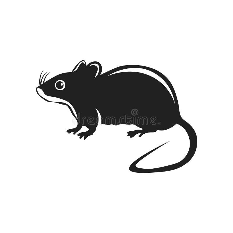 Signe et symbole de vecteur d'icône de rat d'isolement sur le fond blanc, concept de logo de rat illustration stock