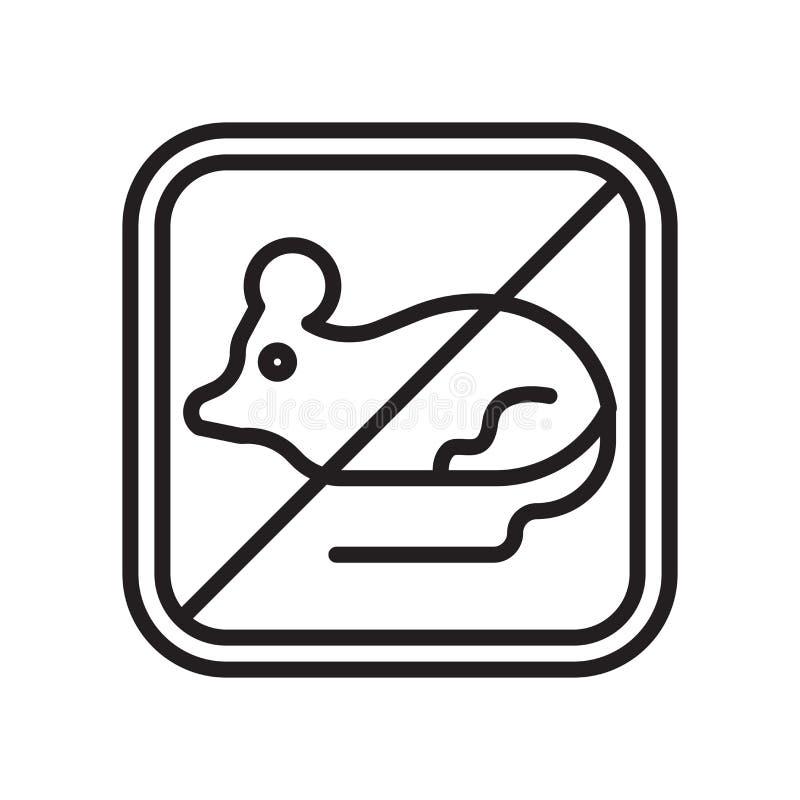 Signe et symbole de vecteur d'icône de rats d'isolement sur le fond blanc, concept de logo de rats illustration stock