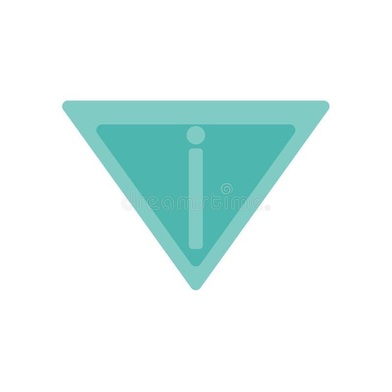 Signe et symbole de vecteur d'icône de rendement d'isolement sur le fond blanc, concept de logo de rendement illustration stock