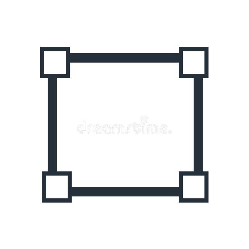 Signe et symbole de vecteur d'icône de sélection d'outil de coupe d'isolement sur le fond blanc, concept de logo de sélection d'o illustration de vecteur
