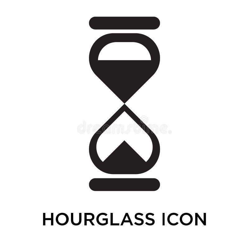 Signe et symbole de vecteur d'icône de sablier d'isolement sur le backgrou blanc illustration de vecteur