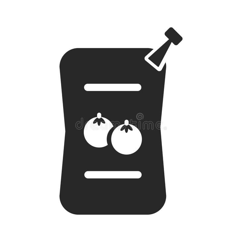 Signe et symbole de vecteur d'icône de sauces d'isolement sur le fond blanc, concept de logo de sauces illustration stock
