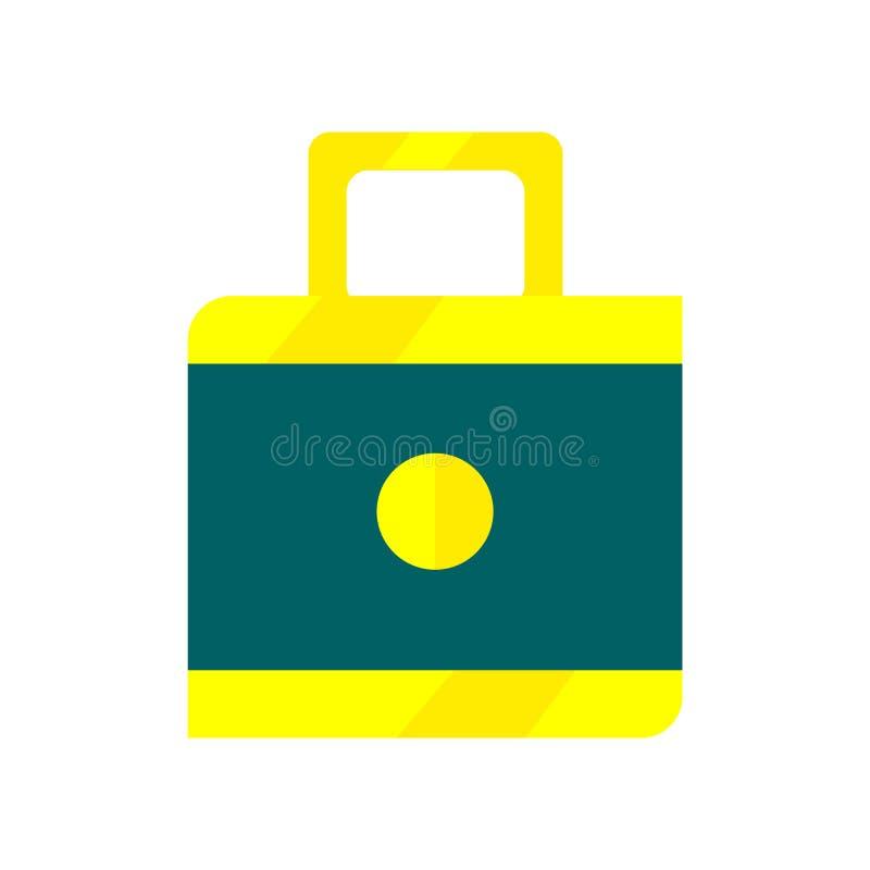 Signe et symbole de vecteur d'icône de serrure d'isolement sur le fond blanc, concept de logo de serrure illustration de vecteur