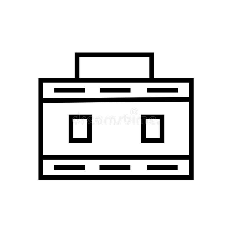 Signe et symbole de vecteur d'icône de serviette d'isolement sur le fond blanc, concept de logo de serviette illustration stock