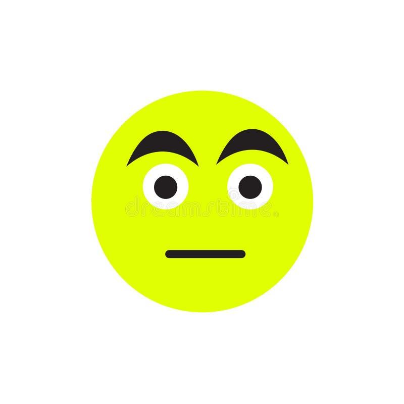 Signe et symbole de vecteur d'icône de sourcils d'isolement sur le fond blanc, concept de logo de sourcils illustration stock