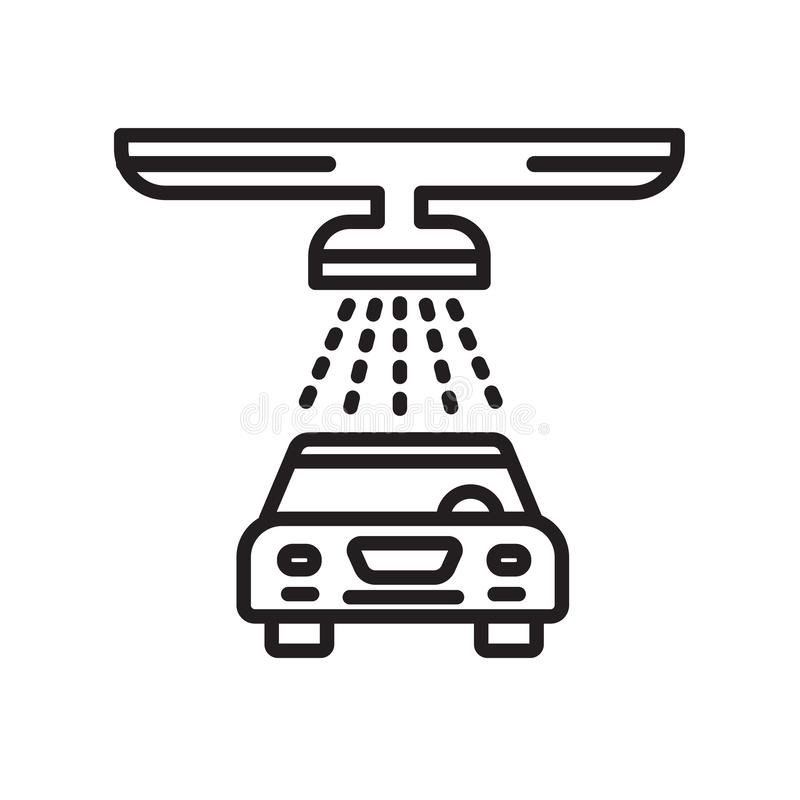 Signe et symbole de vecteur d'icône de station de lavage d'isolement sur le backgroun blanc illustration stock