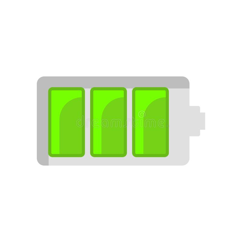 Signe et symbole de vecteur d'icône de statut de batterie d'isolement sur le fond blanc illustration libre de droits