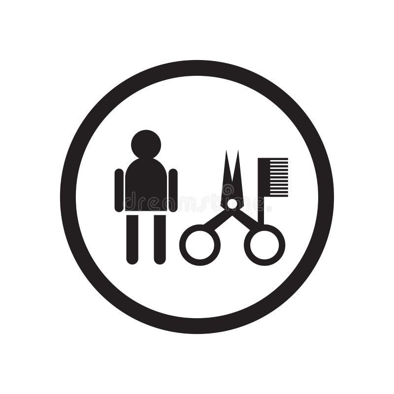 Signe et symbole de vecteur d'icône de signe de styler de cheveux d'isolement sur le fond blanc, concept de logo de signe de styl illustration stock