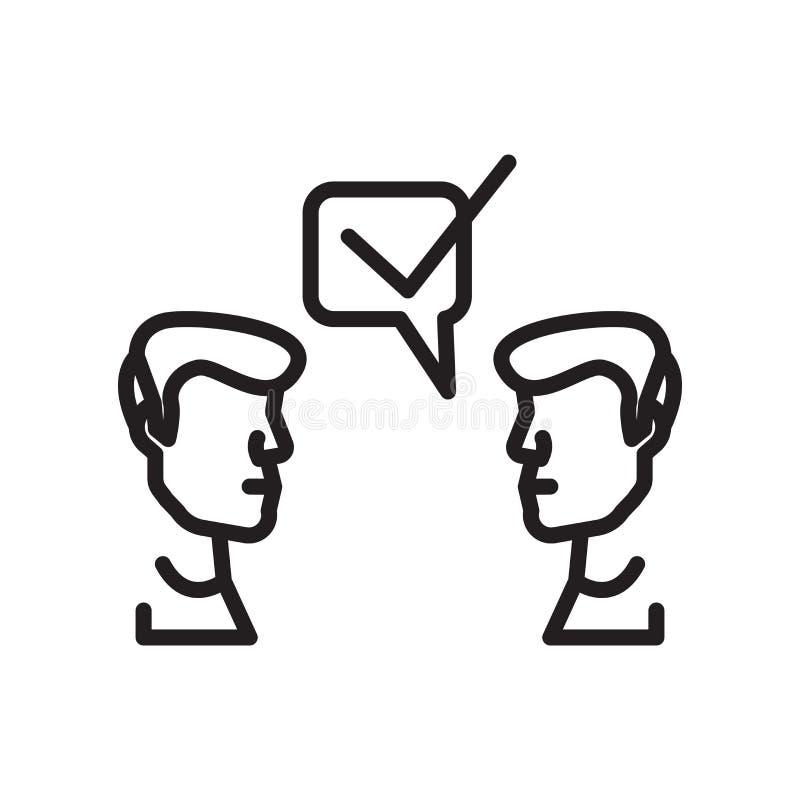 Signe et symbole de vecteur d'icône de suggestion d'isolement sur le backgro blanc illustration stock