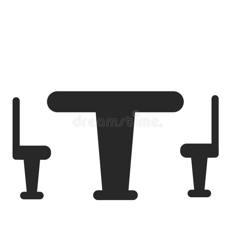 Signe et symbole de vecteur d'icône de Tableau d'isolement sur le fond blanc, concept de logo de Tableau illustration stock