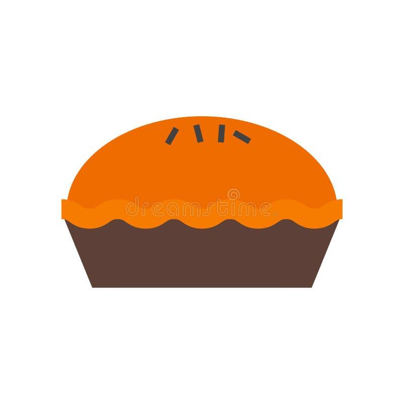 Signe et symbole de vecteur d'icône de tarte d'isolement sur le fond blanc, concept de logo de tarte illustration libre de droits
