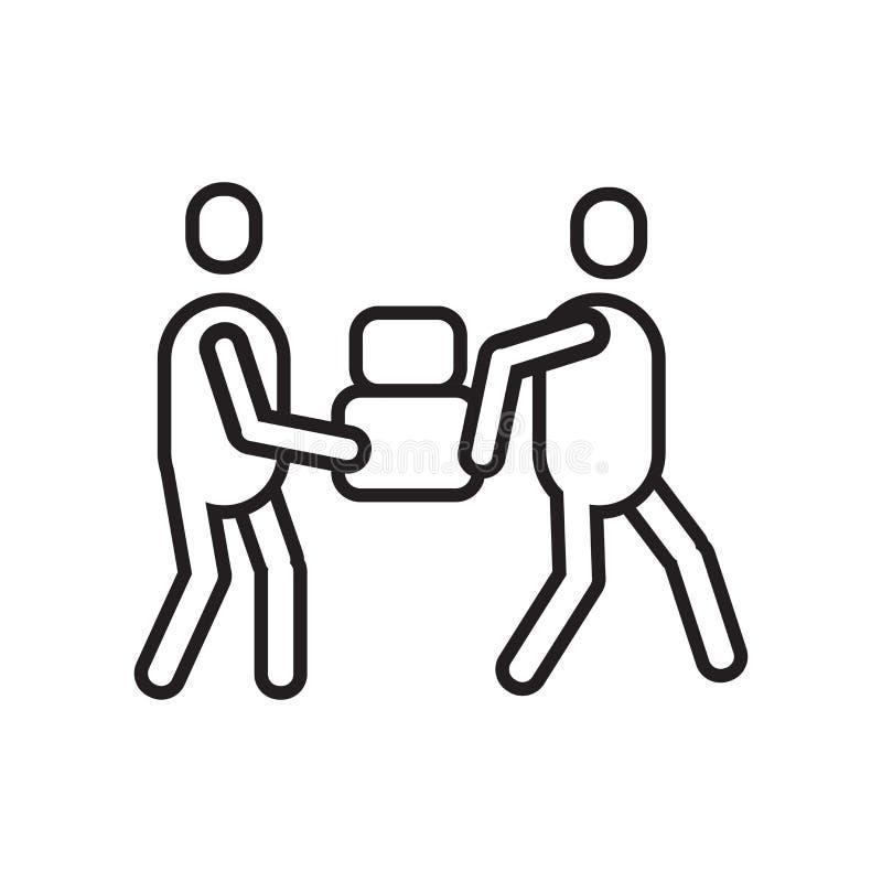 Signe et symbole de vecteur d'icône de transporteur d'isolement sur le fond blanc illustration de vecteur