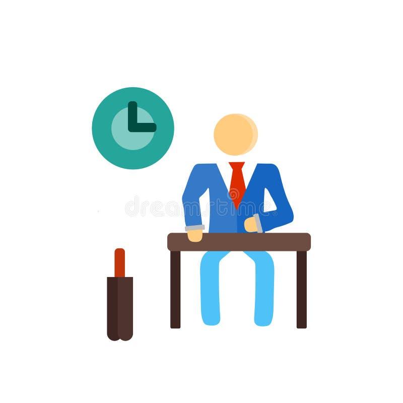 Signe et symbole de vecteur d'icône de travail d'isolement sur le fond blanc, concept de logo de travail illustration libre de droits
