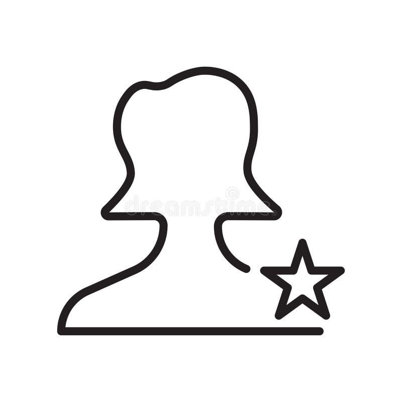 Signe et symbole de vecteur d'icône d'utilisateur d'isolement sur le fond blanc, concept de logo d'utilisateur, symbole d'ensembl illustration de vecteur