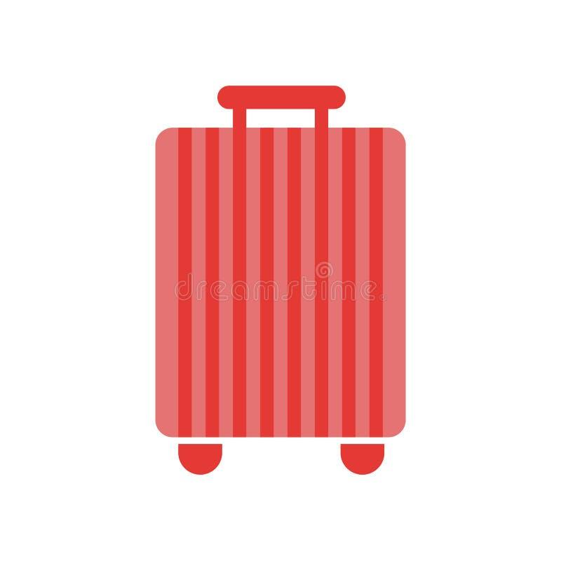 Signe et symbole de vecteur d'icône de valise d'isolement sur le backgroun blanc illustration de vecteur