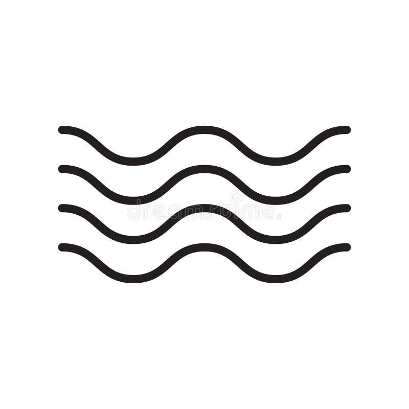 Signe et symbole de vecteur d'icône de Verseau d'isolement sur le backgroun blanc illustration de vecteur