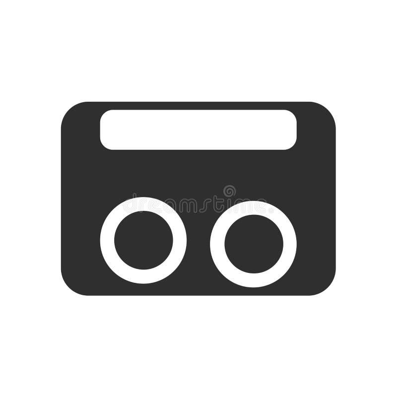 Signe et symbole de vecteur d'icône de VHS d'isolement sur le fond blanc, concept de logo de VHS illustration de vecteur