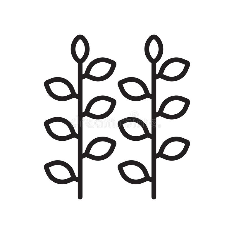 Signe et symbole de vecteur d'icône de vignoble d'isolement sur le backgroun blanc illustration de vecteur