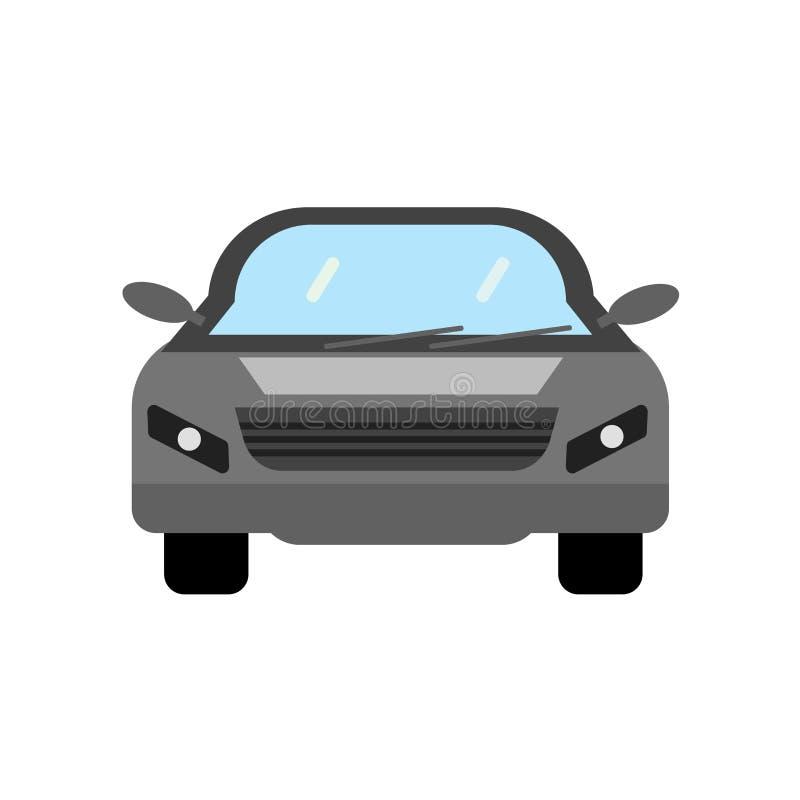 Signe et symbole de vecteur d'icône de voiture d'isolement sur le fond blanc, concept de logo de voiture illustration libre de droits