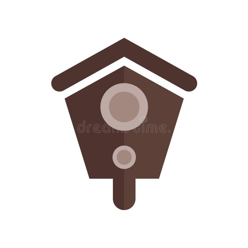 Signe et symbole de vecteur d'icône de volière d'isolement sur le backgrou blanc illustration libre de droits