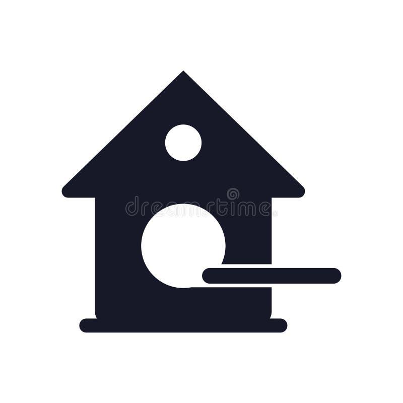 Signe et symbole de vecteur d'icône de volière d'isolement sur le fond blanc, concept de logo de volière illustration libre de droits