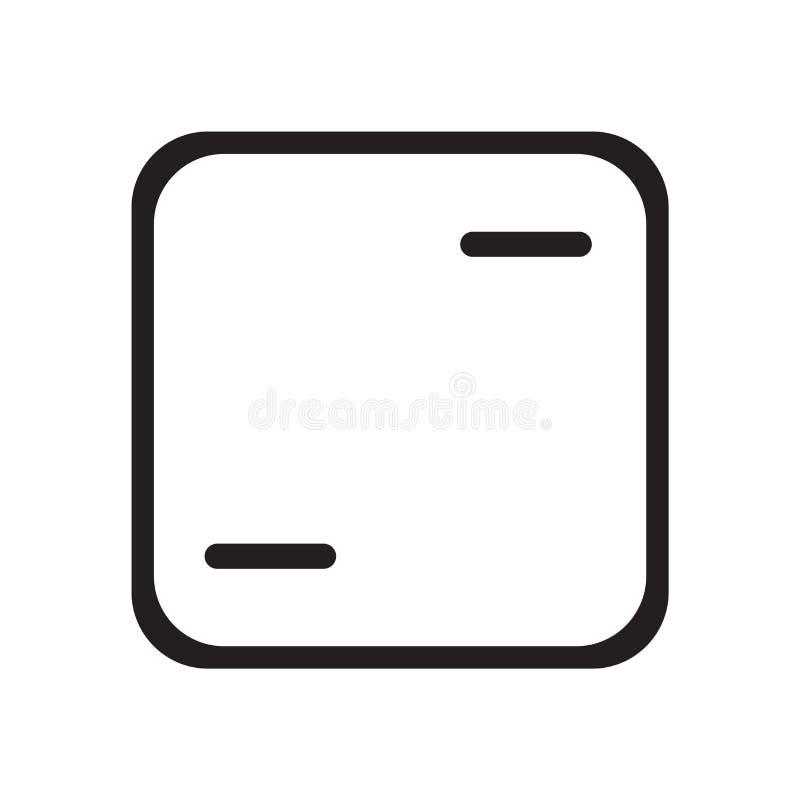 Signe et symbole de vecteur d'icône de vue d'isolement sur le fond blanc, concept de logo de vue illustration libre de droits