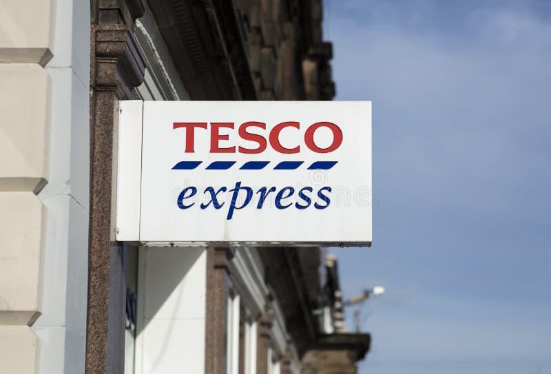 Signe exprès de Tesco, station Rd, Nottingham, Nottinghamshire, R-U photos libres de droits