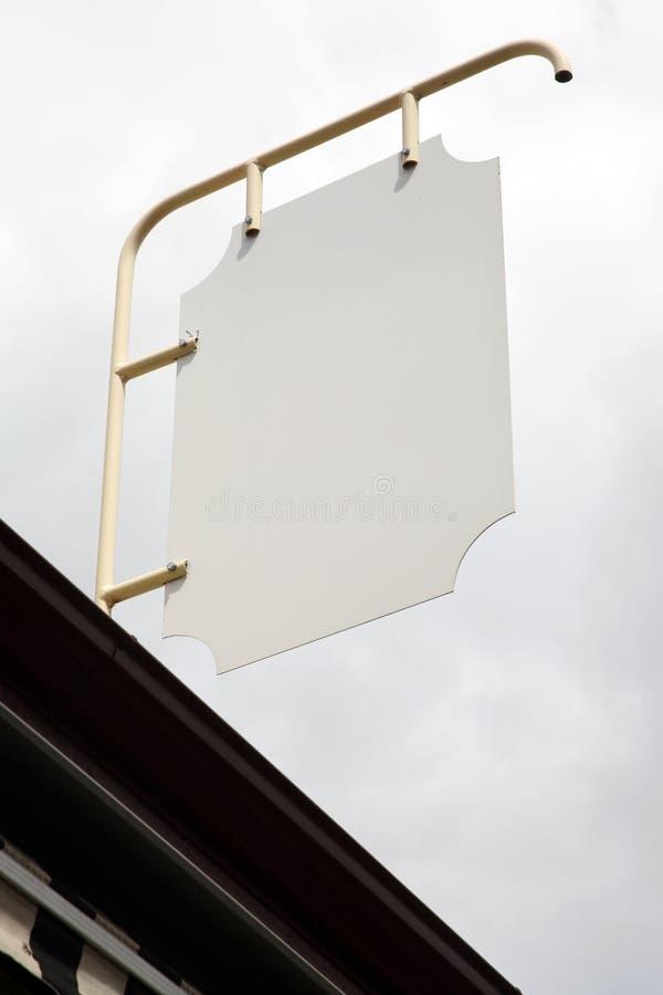 Signe extérieur blanc image stock