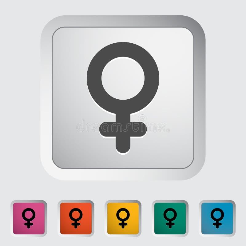 Signe femelle de genre illustration de vecteur