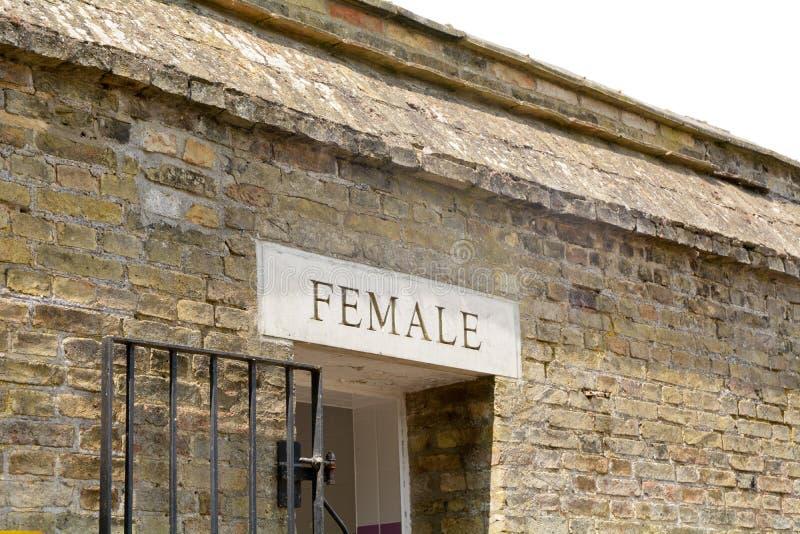Signe femelle de toilette image libre de droits