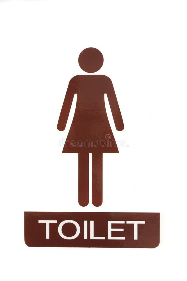 Signe femelle de toilette photos libres de droits