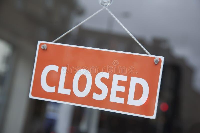 Signe fermé orange images libres de droits