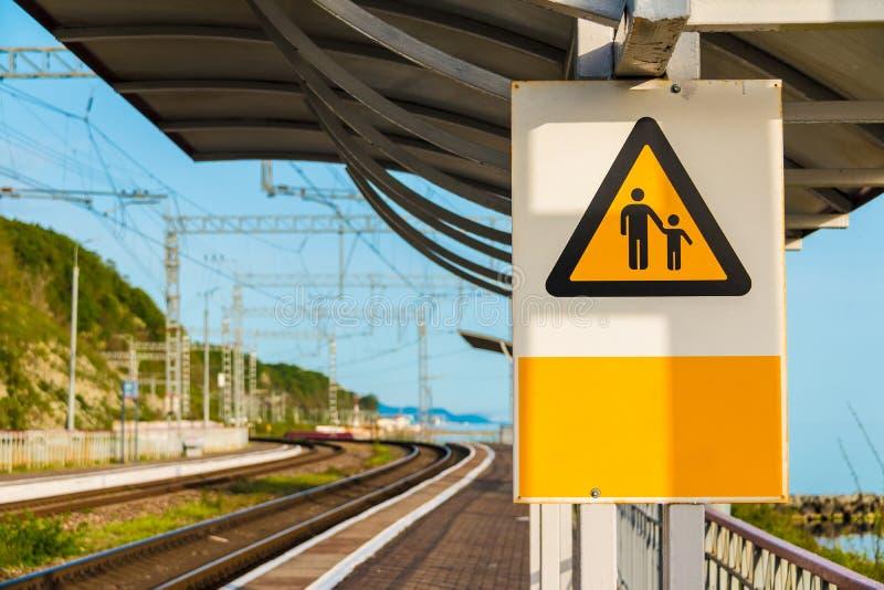 Signe ferroviaire photo stock