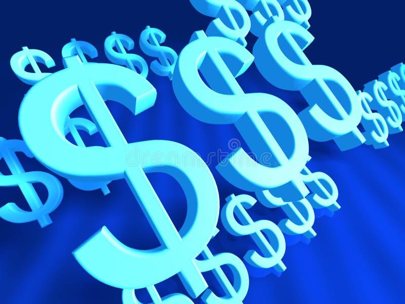 Signe Fliying du dollar illustration stock