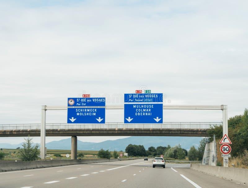 Signe français de route photo libre de droits