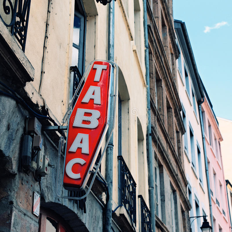 Signe français de Tabac photos stock