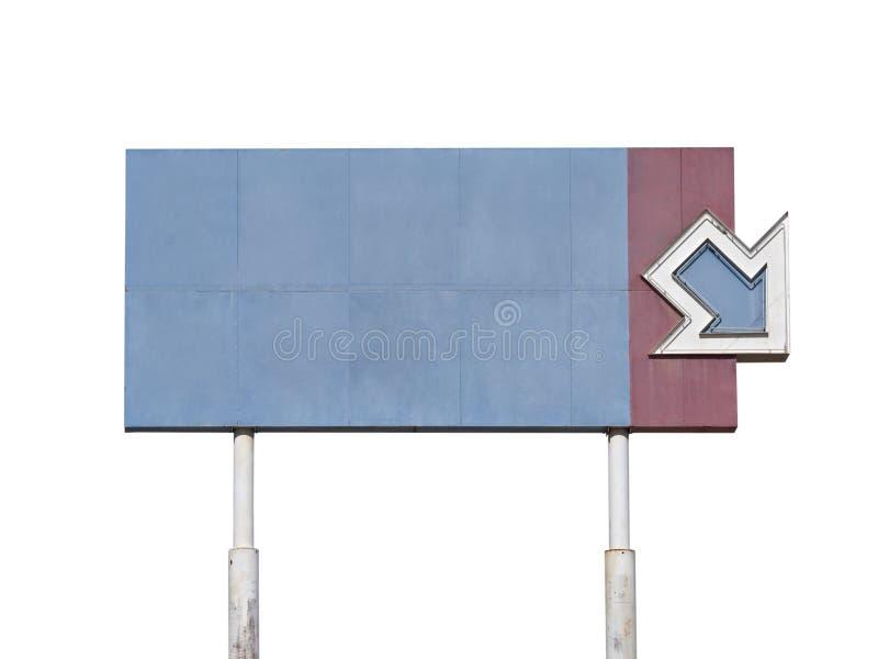 Signe géant de flèche de cru blanc photographie stock