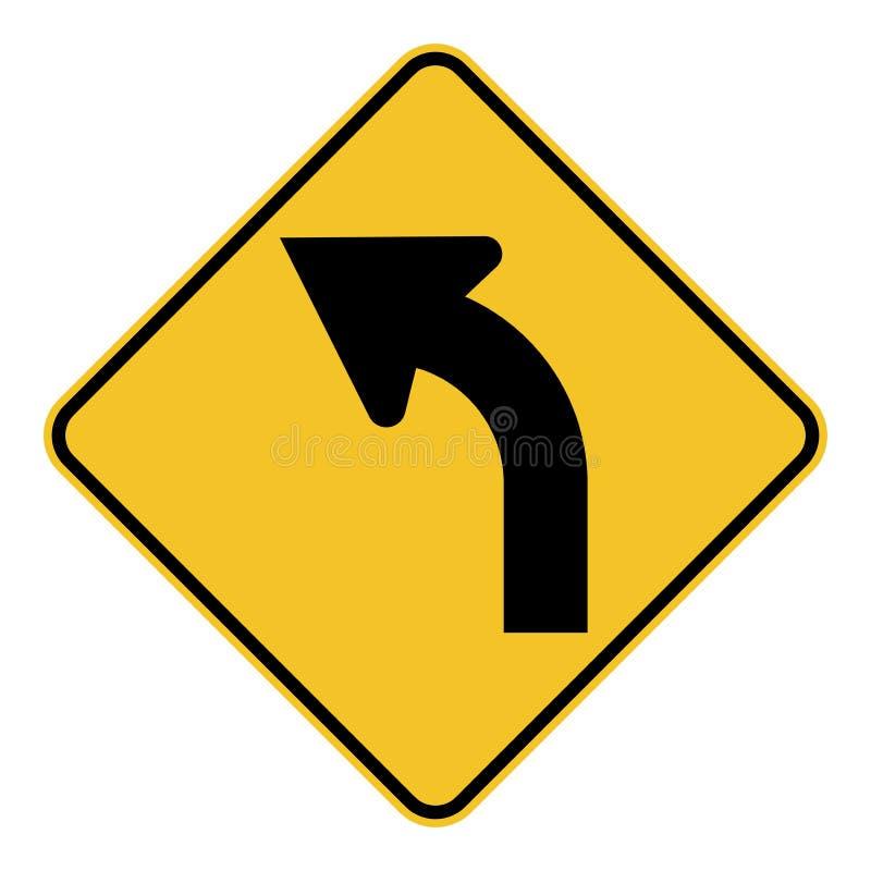 Signe gauche de courbe en avant illustration libre de droits