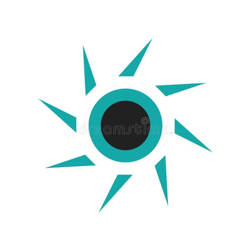 Signe graphique et symbole de vecteur d'icône de cercle de dispersion d'isolement sur le fond blanc, concept graphique de logo de illustration stock