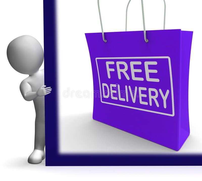 Signe gratuit d'achats de la livraison ne montrant aucune charge ou gratuitement à Deliv illustration stock
