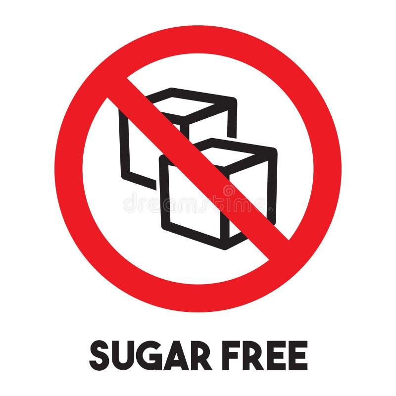 Signe gratuit de sucre illustration libre de droits