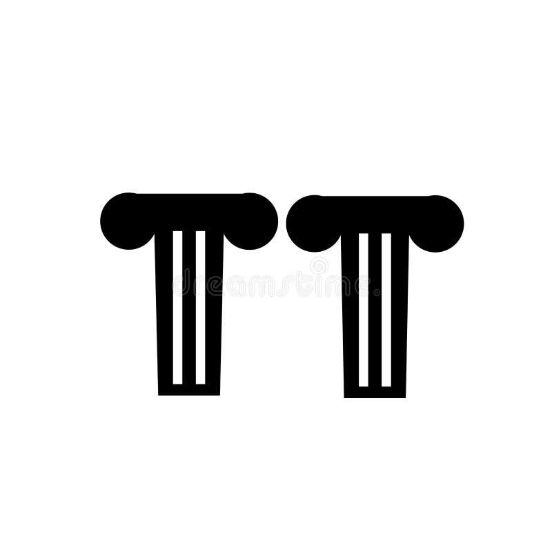 Signe grec et symbole de vecteur d'icône de pilier d'isolement sur le fond blanc, concept grec de logo de pilier illustration libre de droits