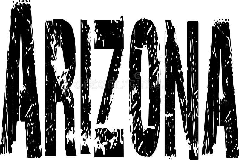 Signe grunge de l'Arizona illustration de vecteur