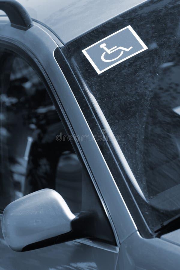 Signe handicapé photo stock